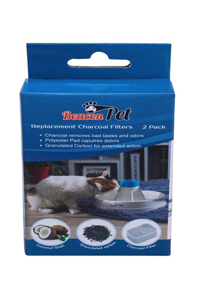 Beacon Pet Oasis Replacement Charcoal Filters  - 2 Pack