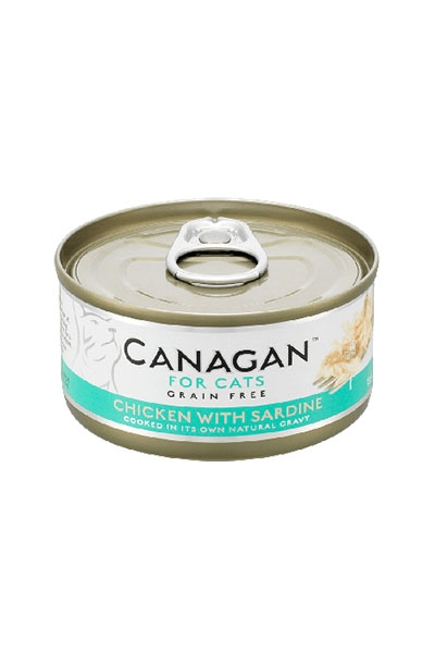 Canagan Grain Free Wet Food For Cats - Chicken With Sardine