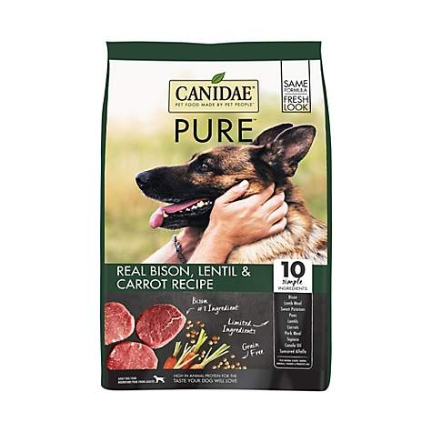 Canidae Pure Grain Free Real Bison, Lentil & Carrot Dog Food