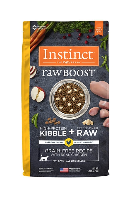 Nature's Variety Raw Boost with Real Chicken Cat Food