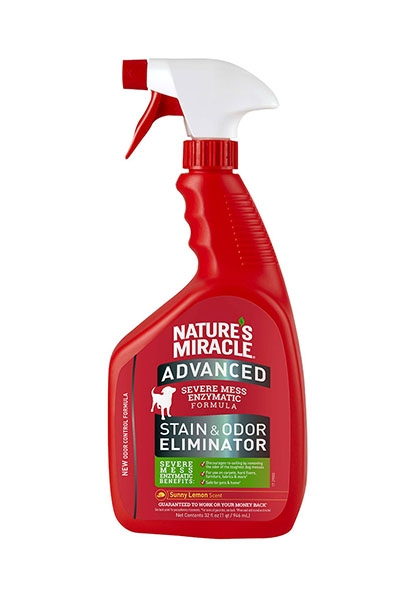 Nature's Miracle Advanced Stain and Odor Eliminator Sunny Lemon Scent for Dogs