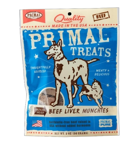 Primal Freeze Dried Beef Liver Munchies