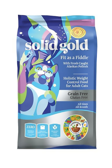 Solid Gold (素力高) 無穀物鱈魚低卡貓糧   Solid Gold Fit as a Fiddle with Pollock Cat Food