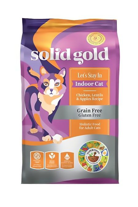 Solid Gold (素力高) 無穀物室內貓雞肉貓糧   Solid Gold Let's Stay In with Chicken Cat Food