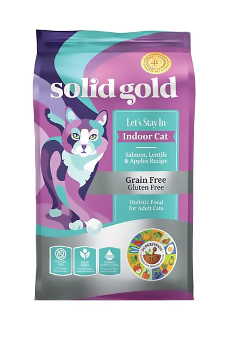 Solid Gold (素力高) 無穀物室內貓三文魚貓糧   Solid Gold Let's Stay In with Salmon Cat Food